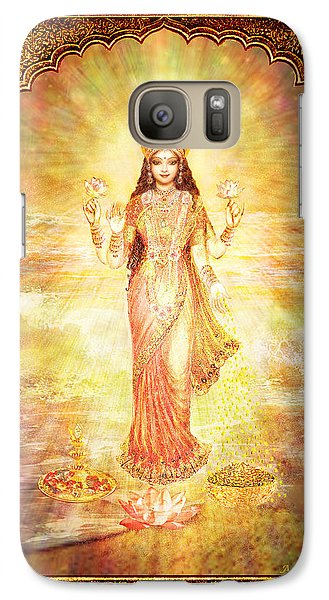 Galaxy Case featuring the mixed media Lakshmi The Goddess Of Fortune And Abundance by Ananda Vdovic
