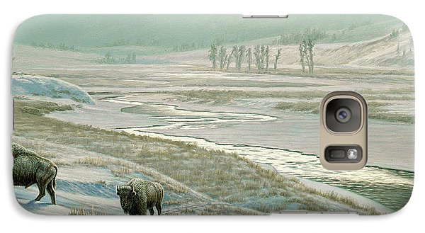 Buffalo Galaxy S7 Case - Lamar Valley - Bison by Paul Krapf