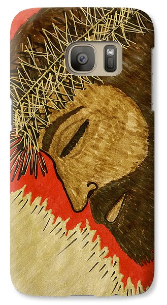 Galaxy Case featuring the drawing Lamb Of God by Chrissy  Pena