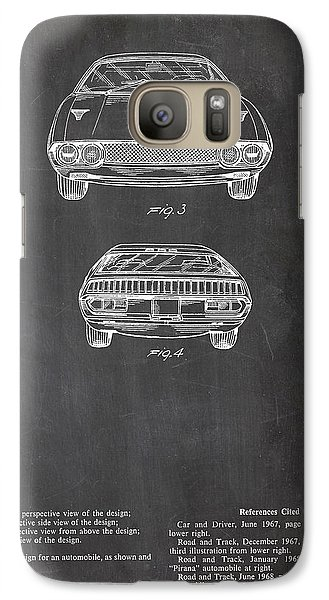 Galaxy Case featuring the digital art Lamborghini Patent Drawing by Art Photography