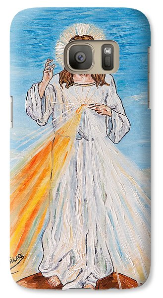 Galaxy Case featuring the painting L'amore by Loredana Messina