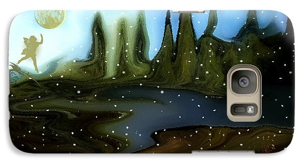 Galaxy Case featuring the painting Land Of The Fairies  For Kids by Sherri  Of Palm Springs