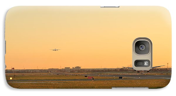 Galaxy Case featuring the photograph Landing And Taking Off  by Puzzles Shum