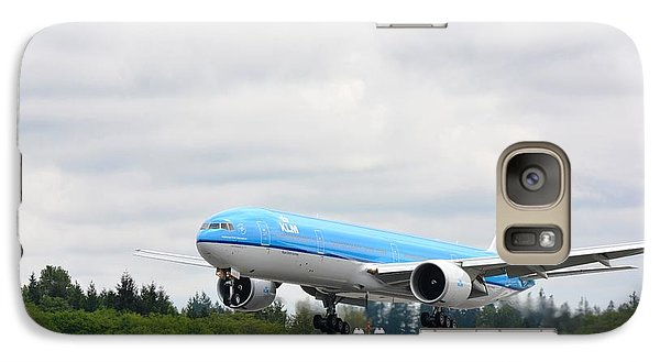Galaxy Case featuring the photograph Klm Landing by Evelina Popilian