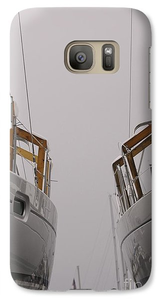 Galaxy Case featuring the photograph Landlocked On A Foggy Day by Kate Purdy