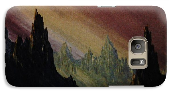 Galaxy Case featuring the painting Lands A Far by Stuart Engel