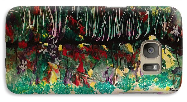 Galaxy Case featuring the painting Landscape Five Hundred by Sima Amid Wewetzer