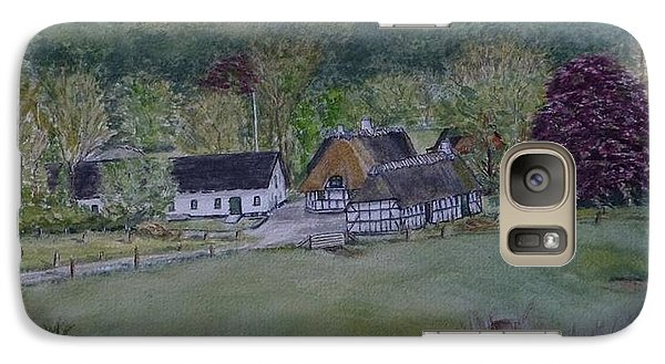 Galaxy Case featuring the painting Landscape In Denmark by Kelly Mills