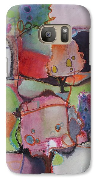 Galaxy Case featuring the painting Landscape by Michelle Abrams