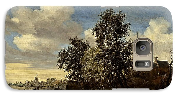 Galaxy Case featuring the digital art Landscape by Salomon van Ruysdael