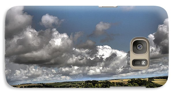 Galaxy Case featuring the photograph Landscape With Clouds by Winifred Butler