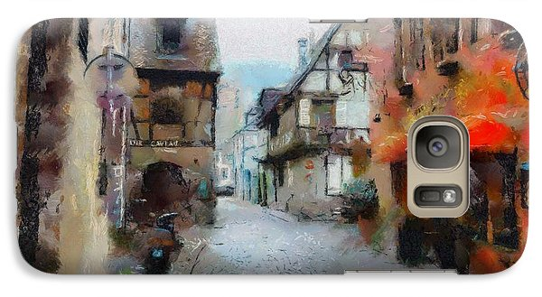 Galaxy Case featuring the painting Lane In France by Wayne Pascall