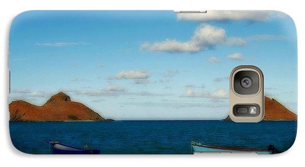 Galaxy Case featuring the photograph Lanikai Beach by Caroline Stella