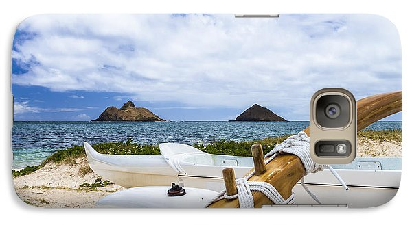 Galaxy Case featuring the photograph Lanikai Outrigger 1 by Leigh Anne Meeks