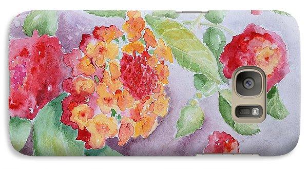 Galaxy Case featuring the painting Lantana by Marilyn Zalatan