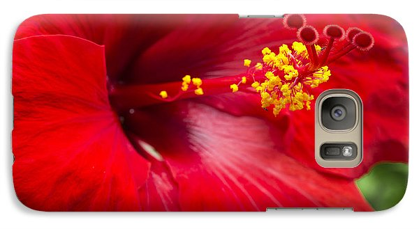 Galaxy Case featuring the photograph Large Red Hibiscus by Leigh Anne Meeks