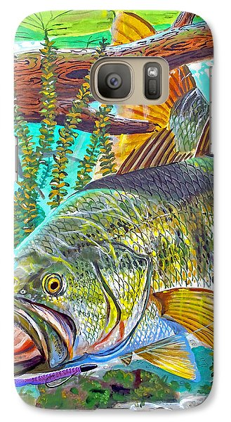 Largemouth Bass Galaxy S7 Case by Carey Chen