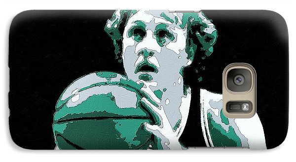 Larry Bird Poster Art Galaxy S7 Case by Florian Rodarte