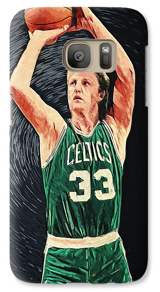 Larry Bird Galaxy S7 Case by Taylan Apukovska
