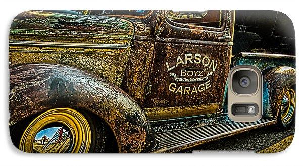 Galaxy Case featuring the photograph Larson Boyz Garage by Jay Stockhaus