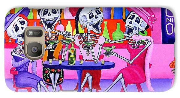 Galaxy Case featuring the painting Las Borrachitas by Evangelina Portillo