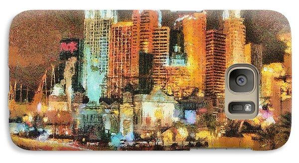 Galaxy Case featuring the painting Las Vegas by Georgi Dimitrov