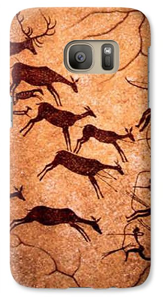 Galaxy Case featuring the digital art Lascaux Stag Hunting by Asok Mukhopadhyay