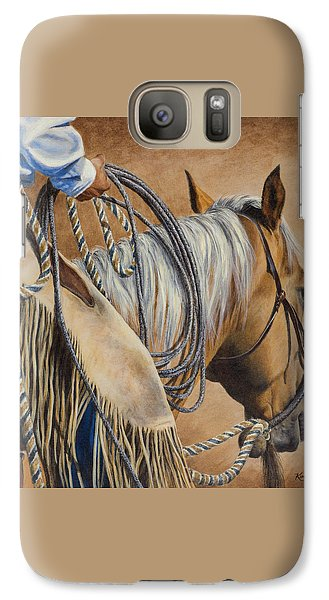 Galaxy Case featuring the painting Lariat And Leather by Kim Lockman