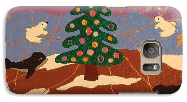 Galaxy Case featuring the painting Last Christmas by Erika Chamberlin