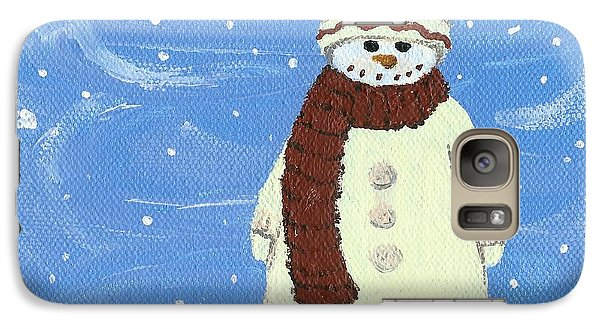Galaxy Case featuring the painting Last Decoration Snowman by Lynn Babineau