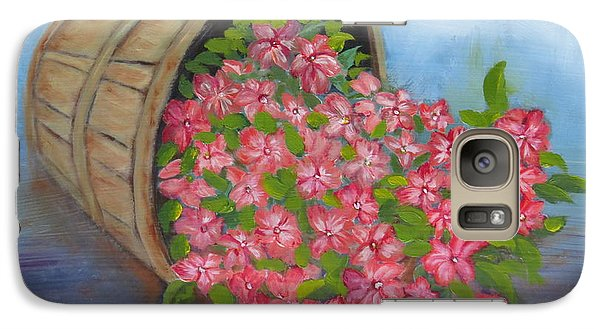Galaxy Case featuring the painting Last Flowers Of Summer by Sharon Schultz