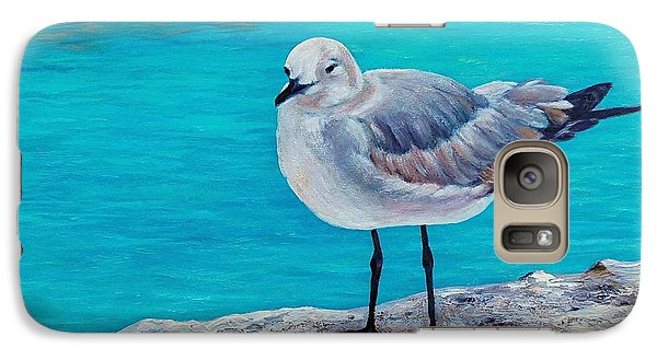 Galaxy Case featuring the painting Last Gull Standing by Susan DeLain
