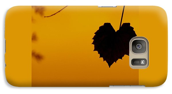 Galaxy Case featuring the photograph Last Leaf Silhouette by Joy Hardee