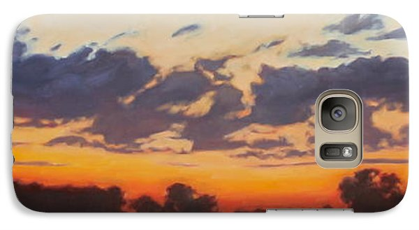 Galaxy Case featuring the painting Last Light by Andrew Danielsen