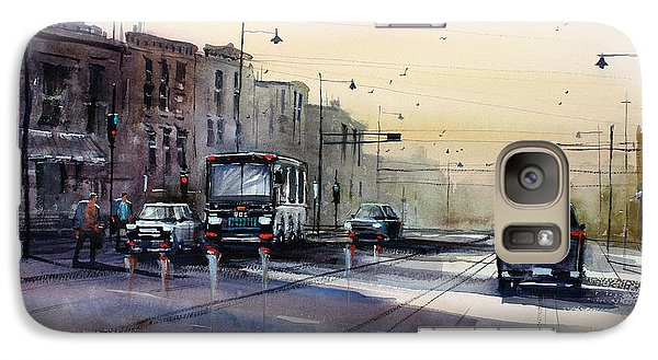 Last Light - College Ave. Galaxy Case by Ryan Radke
