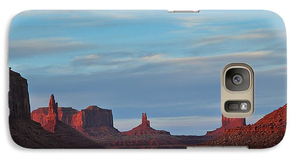 Galaxy Case featuring the photograph Last Light In Monument Valley by Alan Vance Ley