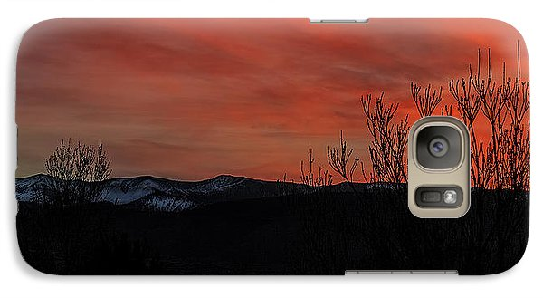 Galaxy Case featuring the photograph Last Light by Nancy Marie Ricketts