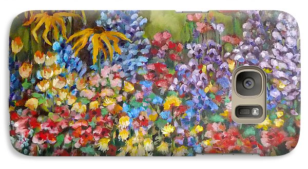 Galaxy Case featuring the painting Last Summer's Flowers by Irena Mohr