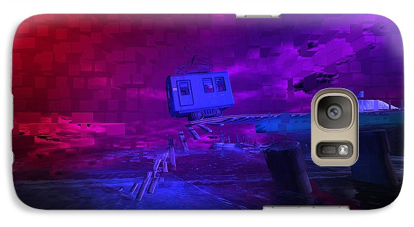 Galaxy Case featuring the digital art Last Train To . . . by Kylie Sabra
