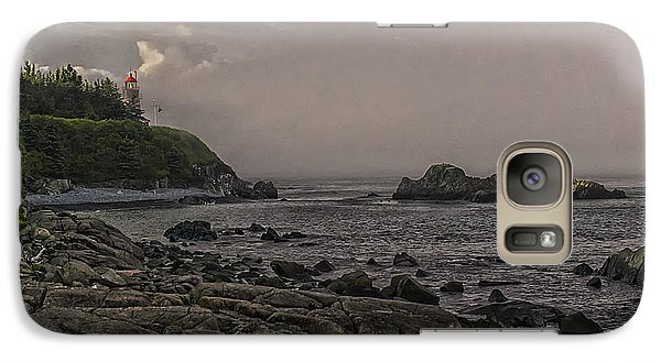 Galaxy Case featuring the photograph Late Afternoon Sun On West Quoddy Head Lighthouse by Marty Saccone