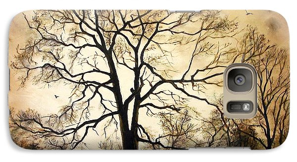 Galaxy Case featuring the painting Late Autumn by Sorin Apostolescu