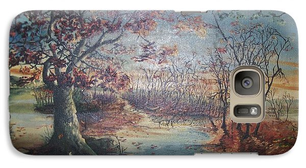 Galaxy Case featuring the painting Late Fall by Peter Suhocke