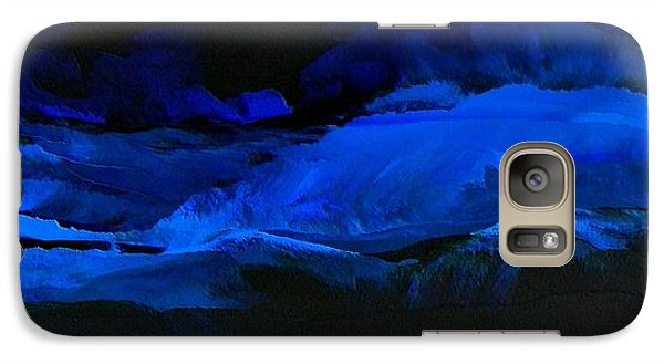 Galaxy Case featuring the painting Late Night High Tide by Linda Bailey