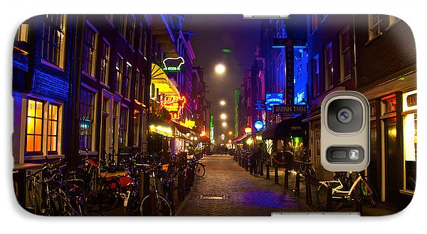 Galaxy Case featuring the photograph Late Night Neon  by Jonah  Anderson