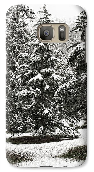 Galaxy Case featuring the photograph Late Season Snow At The Park by Gary Slawsky