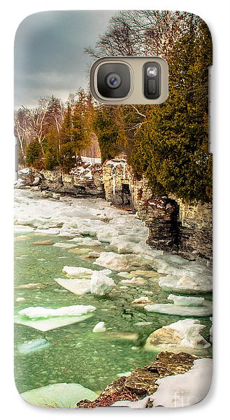 Galaxy Case featuring the photograph Late Winter At Cave Point by Mark David Zahn