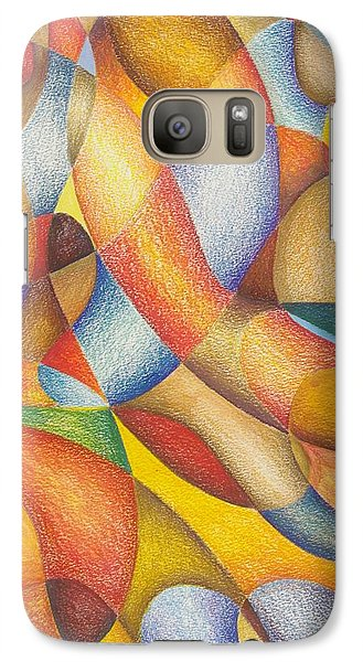 Galaxy Case featuring the drawing Lately I've Been Runnin' On Faith by Rick Ahlvers