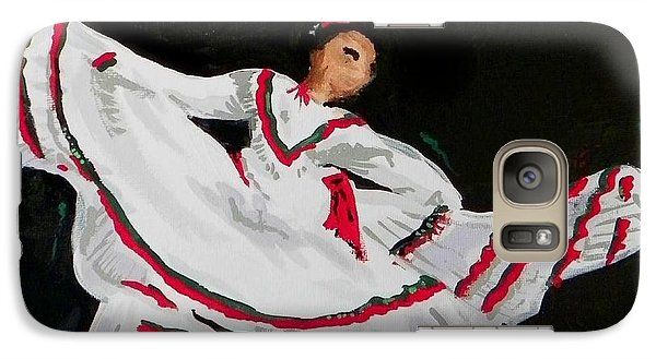 Galaxy Case featuring the painting Latin Dancer by Marisela Mungia