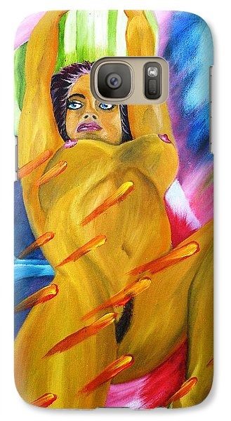 Galaxy Case featuring the painting Latin Dreams Revisited by The GYPSY And DEBBIE