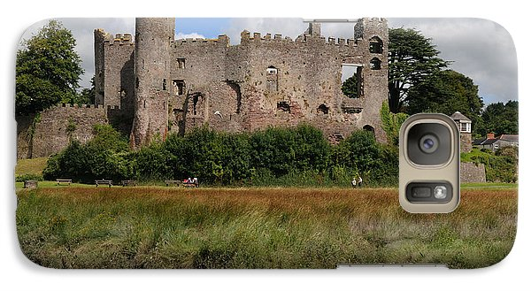 Galaxy Case featuring the photograph Laugharne Castle by Jeremy Voisey